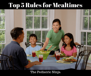 Rules for Mealtimes